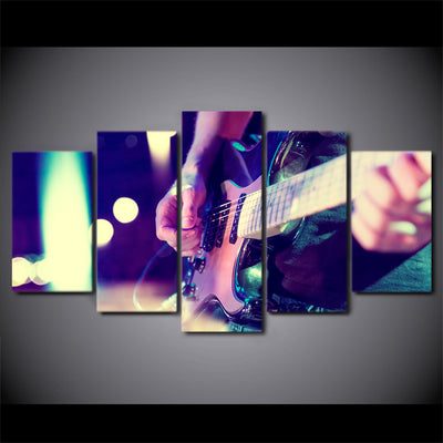 Limited Edition 5 Piece Guitar Playing Canvas