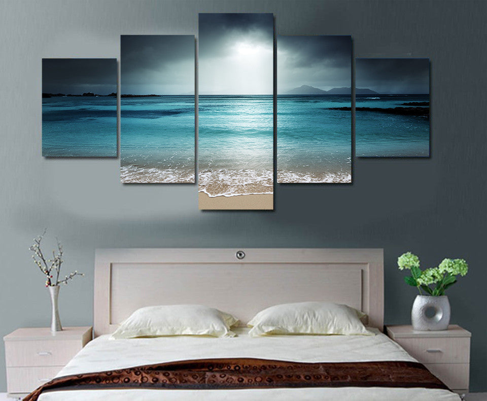 Limited Edition 5 Piece Ocean Canvas Modern Arrival
