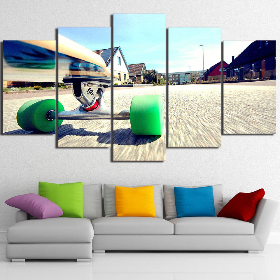 Limited Edition 5 Piece Running Skateboard Canvas