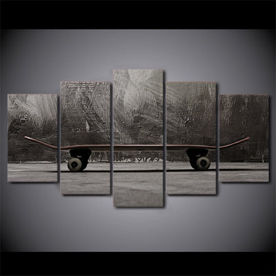 Limited Edition 5 Piece Artistic Skateboard Canvas
