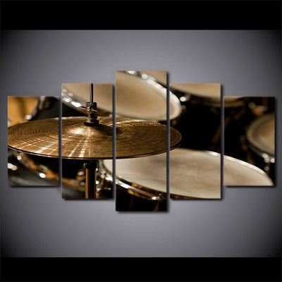 Limited Edition 5 Piece Vintage Drum And Cymbals Canvas