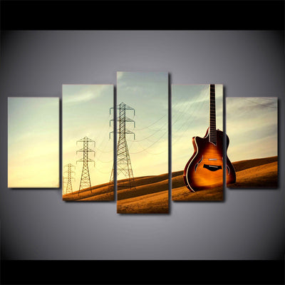 Limited Edition 5 Piece Vintage Tower Guitar Canvas