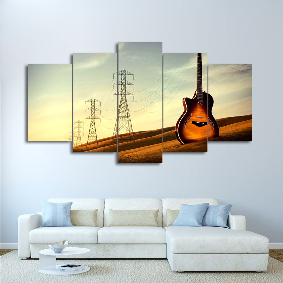 Limited Edition 5 Piece Vintage Tower Guitar Canvas – Modern Arrival
