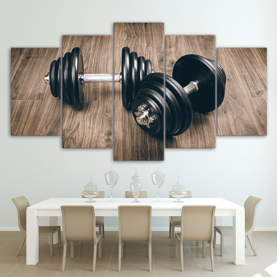 Limited Edition 5 Piece Dumbbell Canvas