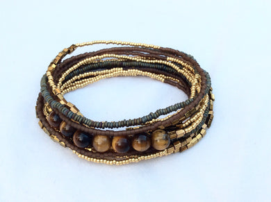 Beaded Bracelet with Tiger's eye