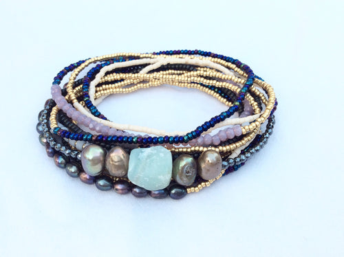 Beaded Bracelet with center piece