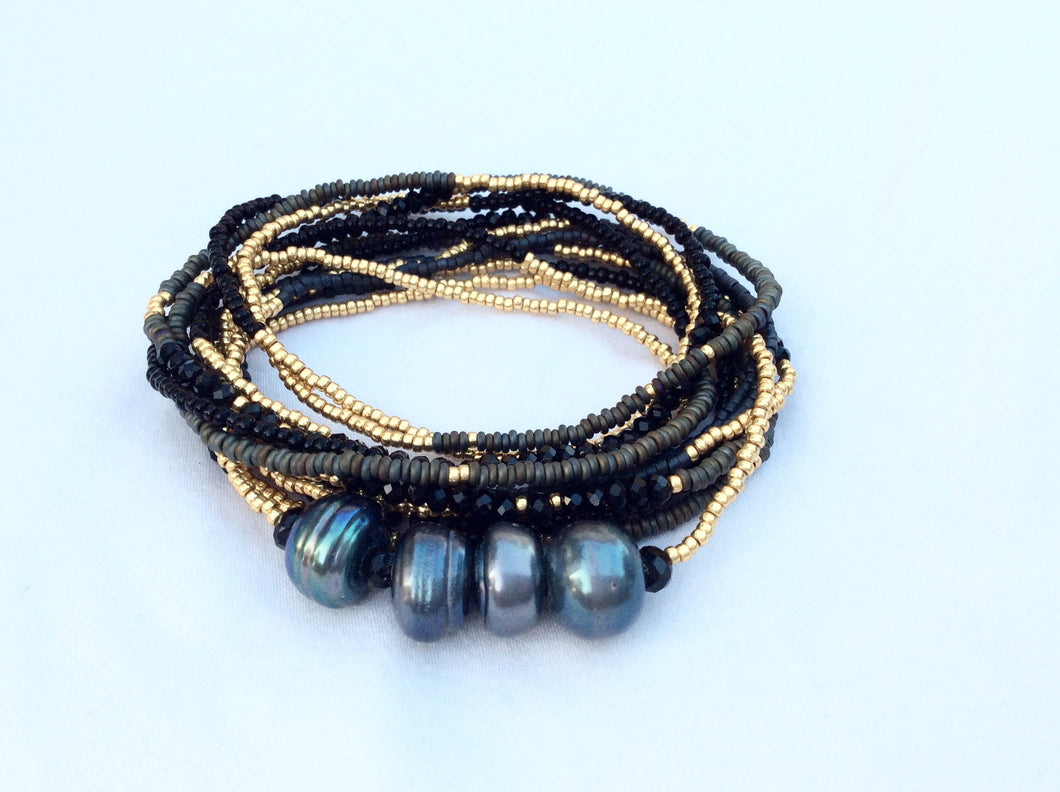 Beaded Bracelet with Pearls