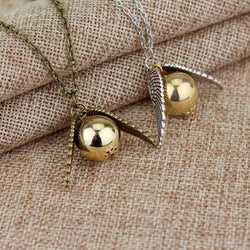 Harry Potter Golden Snitch Winged Necklace