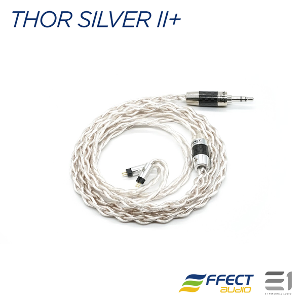 EFFECT AUDIO Thor Silver II+ CABLE (MMCX / 2PIN)[EA 3.5MM / EA 2.5MM]
