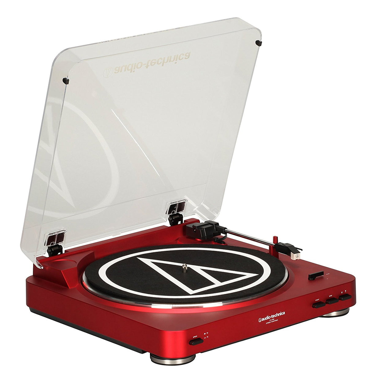 Audio-Technica AT-LP60 Vinyl Turntable (Red)