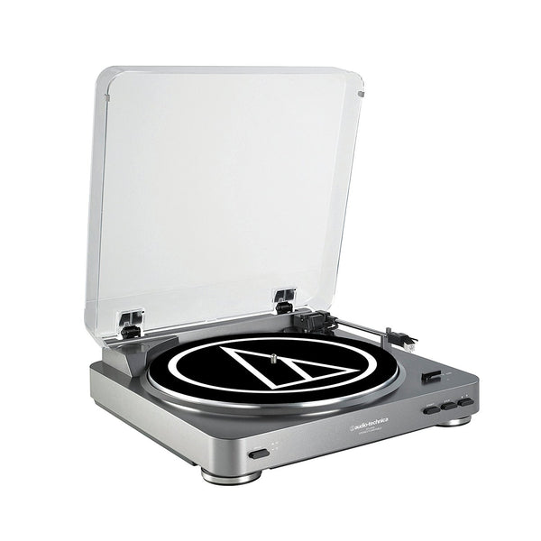 Audio-Technica AT-LP60 Vinyl Turntable (Silver)