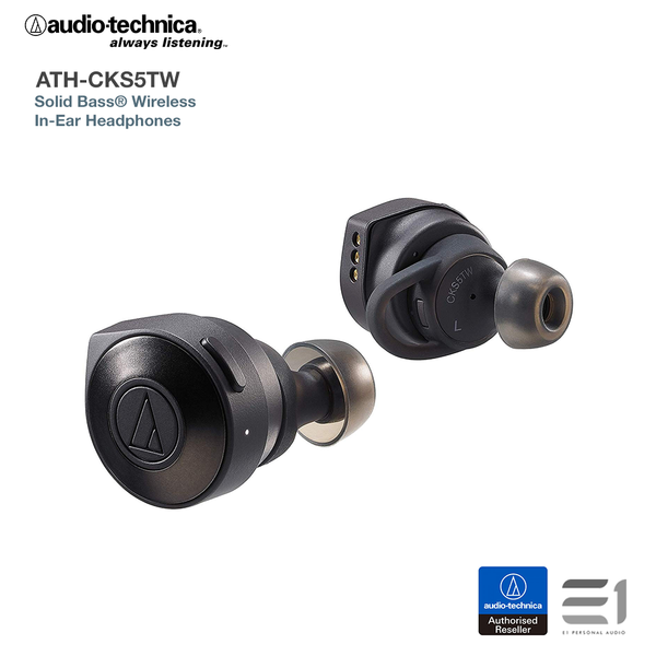 Audio-Technica ATH-CKS5TW SOLID BASS True Wireless Headphones