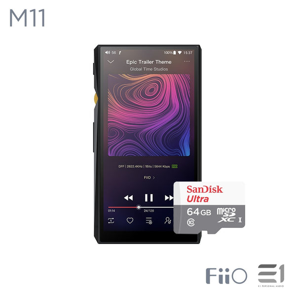 FiiO M11 Portable Hi Resolution Lossless Music Player (free San Disk 64GB)