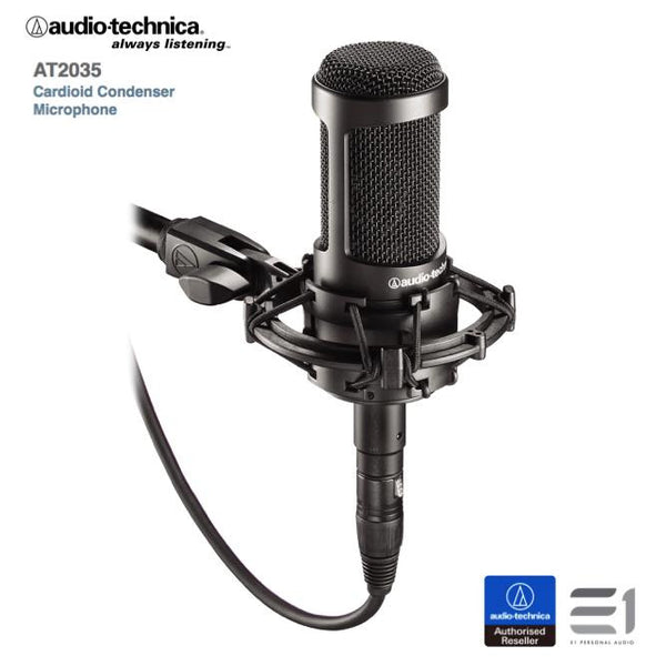 Audio-Technica AT2035 Studio Condenser Microphone (Black)