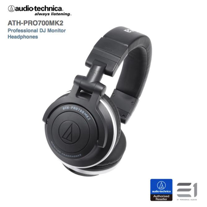 Audio Technica ATH-PRO700MK2 Professional  DJ Monitor Headphones Black