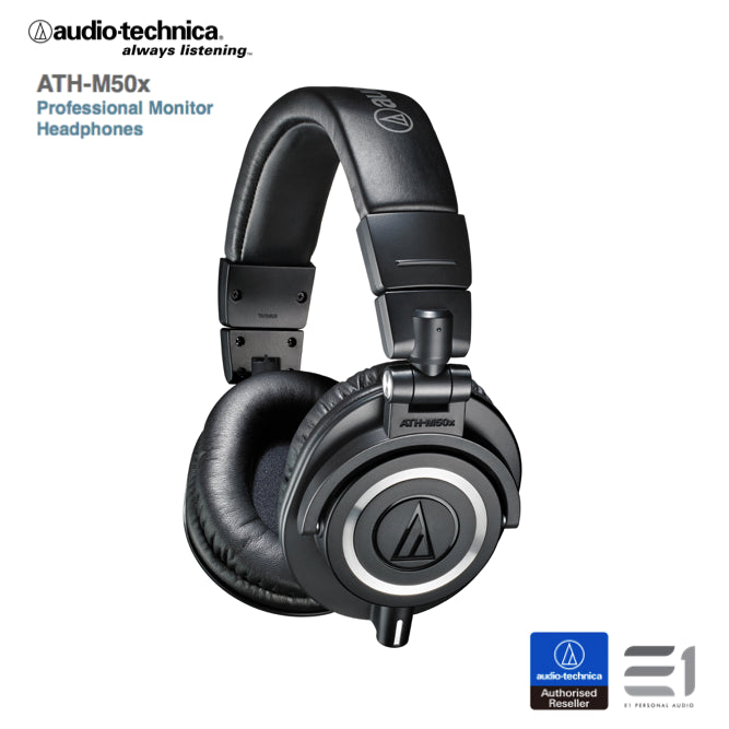 Audio-Technica ATH-M50xBK monitoring headphones