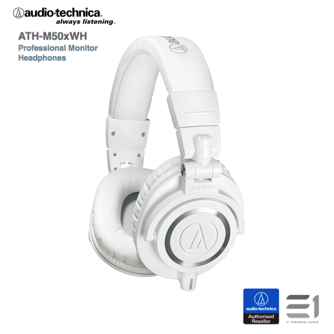 Audio-Technica ATH-M50xWH monitoring headphones