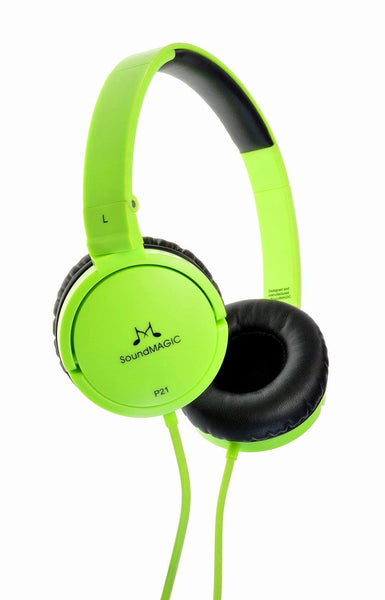 SoundMAGIC P21 On-Ear Headphones - Green