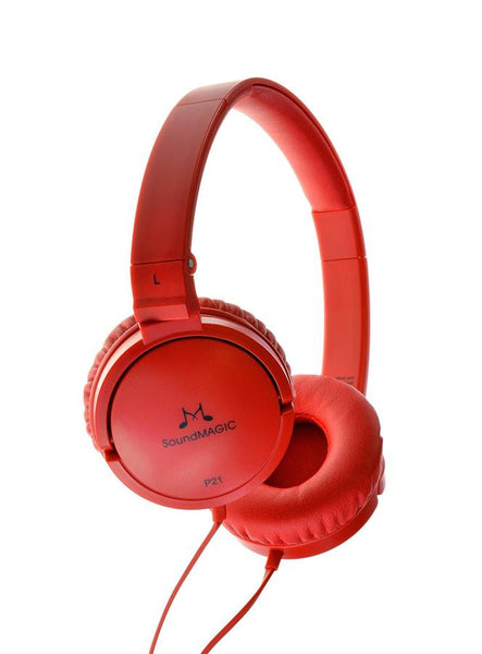 SoundMAGIC P21 On-Ear Headphones - Red