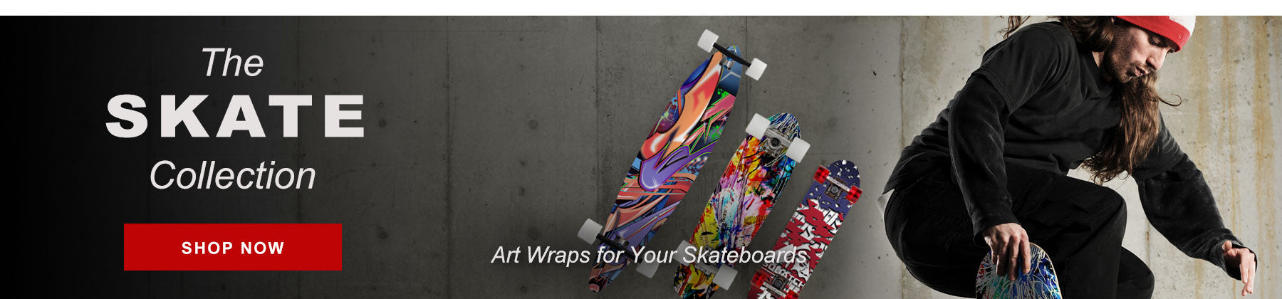 Art and individualism. Be your own with Longboard and Skateboard Wraps from SQUATCH. From parks to streets. You are a rebel non-conformist. Feel the outdoors, rural or urban.  From the concrete under Highway 99 in Seattle to the Embarcadero in San Francisco.  It's not always legal, but it's your day.