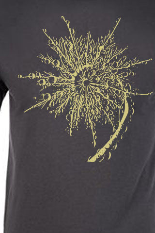 SPIRAL FERN Tee. Series One Original Light Olive on Heavy Metal Tee. Original Spiral Fern design available on Snowboard, Skateboard  and Longboard Wraps. Product Description •Artwork by Steve Lovitt, SQUATCH Industries Design  •Screen Printed Graphic Tee •Premium Next Level Short-Sleeve Crew (Heavy Metal) •100% Combed Cotton Jersey •Available in Small - XXL