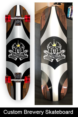 Future Primitive Brewery Custom Skateboard Wrap
