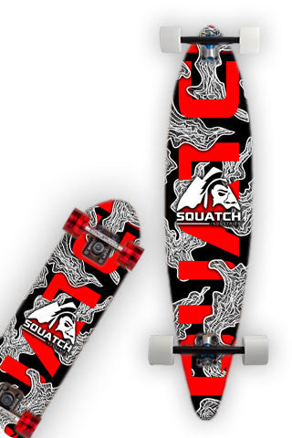 RED MAYHEM Skateboard / Longboard Wrap
