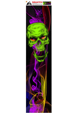 SKULL and SMOKE Skateboard Wrap original digital print.