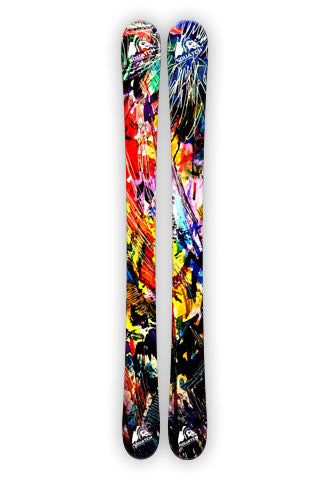 Snow Ski Wraps from  Origional water color art print.