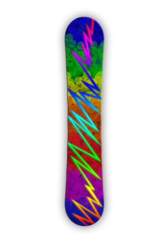SPOT COLOR. Original SQUATCH Industries design.   Clean vibrant colors are the hallmark of this snowboard wrap design.
