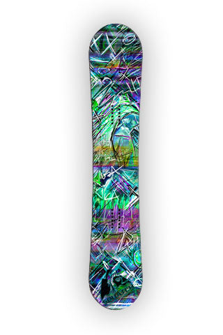 INDUCED STATE.  This Snowboard wrap is a multi level abstract digital painting.