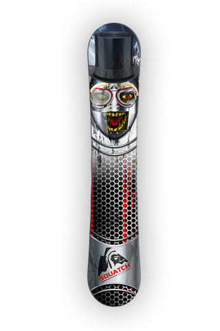 METAL MASK  Snowboard wrap original graphic print