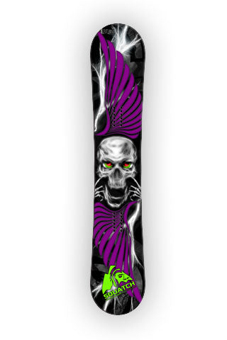 SKULL and WINGS Snowboard Wrap