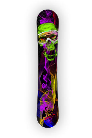 SKULL and SMOKE Snowboard Wrap