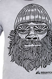 SQUATCH MAN Tee. Series One Original Black on Heather Gray Tee.