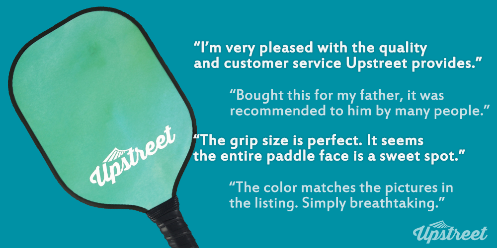 Graphite Pickleball Paddle (Green) - Upstreet Pickleball Paddles