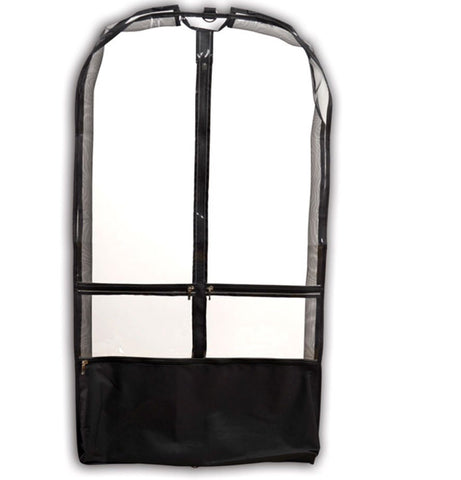 Short Garment Bag w/ Gusset- Black
