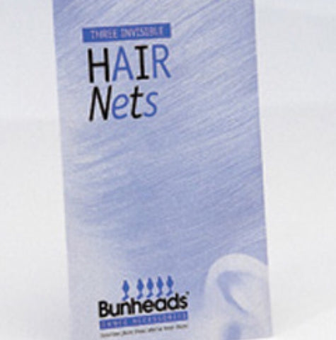 Bunheads Three Invisible Hair Nets - Black