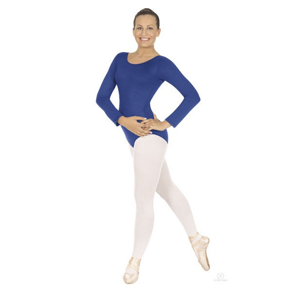 blue longsleeve leotard