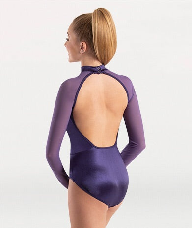 Satin Long Sleeved Leotard