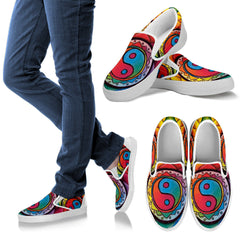 Image of Rainbow Lotus Mandala Slip On's