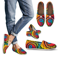 Image of Women's Rainbow Lotus Mandala Casual Shoes