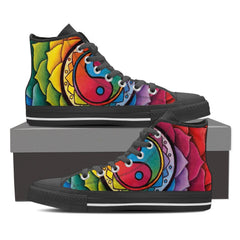 Image of Rainbow Lotus Mandala High Top Shoes