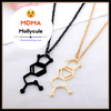 "Image of MDMA ""Molly"" Chemical Structure Necklace"