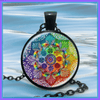 Image of Handmade Free Spirit Mandala Necklace - Peak Instinct - sacred geometry jewelry