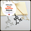 "Image of Psilocybin ""Magic Mushroom"" Chemical Structure Necklace"