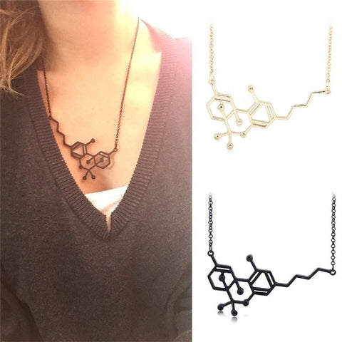 THC Chemical Molecule Structure Necklace - Peak Instinct - sacred geometry jewelry