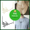 Image of THC Chemical Molecule Structure Necklace