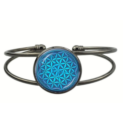 Radiant Flower of Life Power Bracelet - Peak Instinct - sacred geometry jewelry