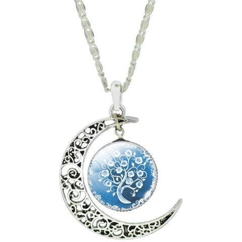 Floating Tree - Three Piece Set with Moon Pendant Necklace - Peak Instinct - sacred geometry jewelry